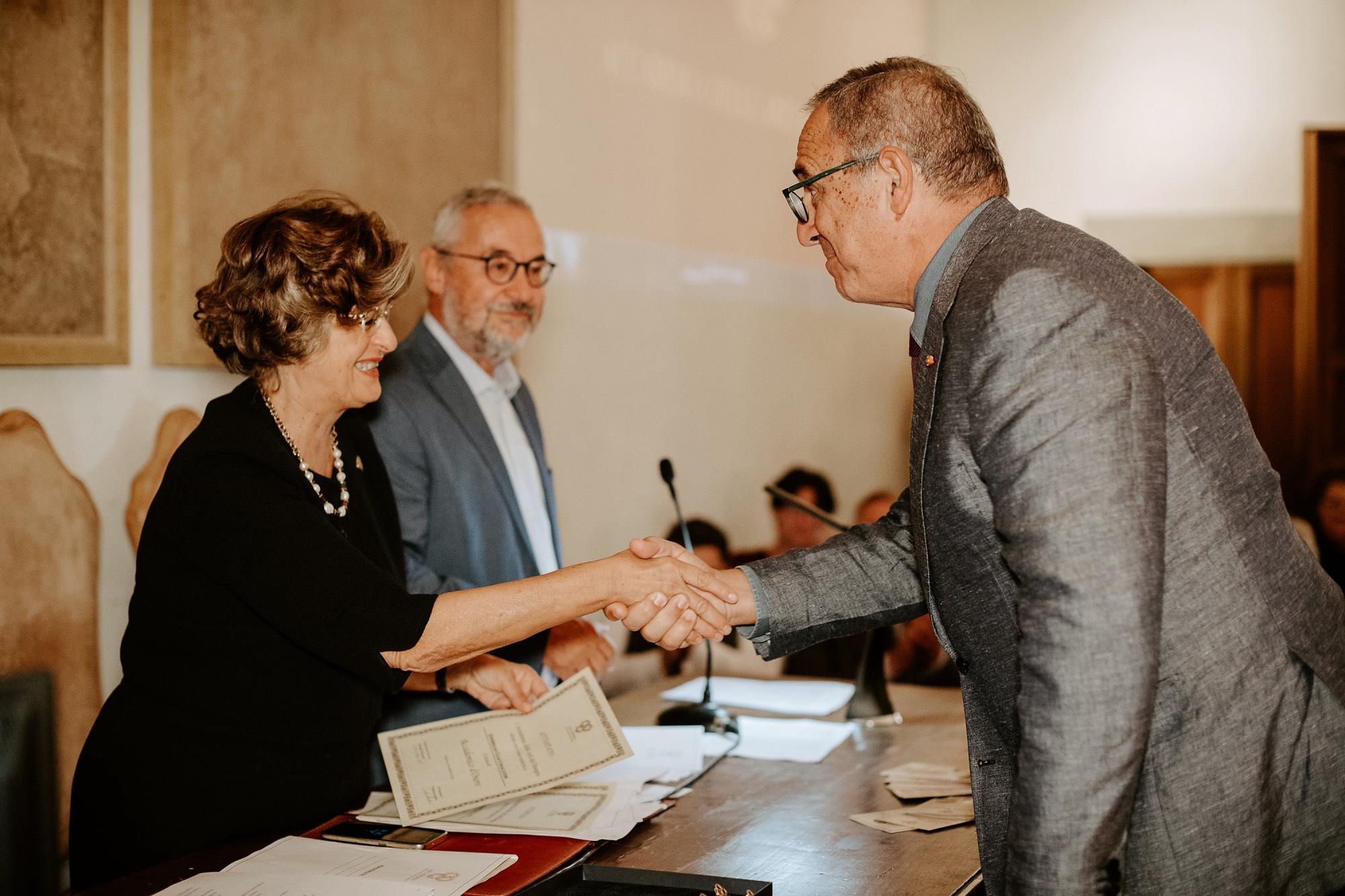 Ανδρέας Γιακουμακάτος. Τελετή αναγόρευσης σε Ακαδημαϊκό, στην Τάξη της Αρχιτεκτονικής, της Ακαδημίας των Τεχνών της Φλωρεντίας