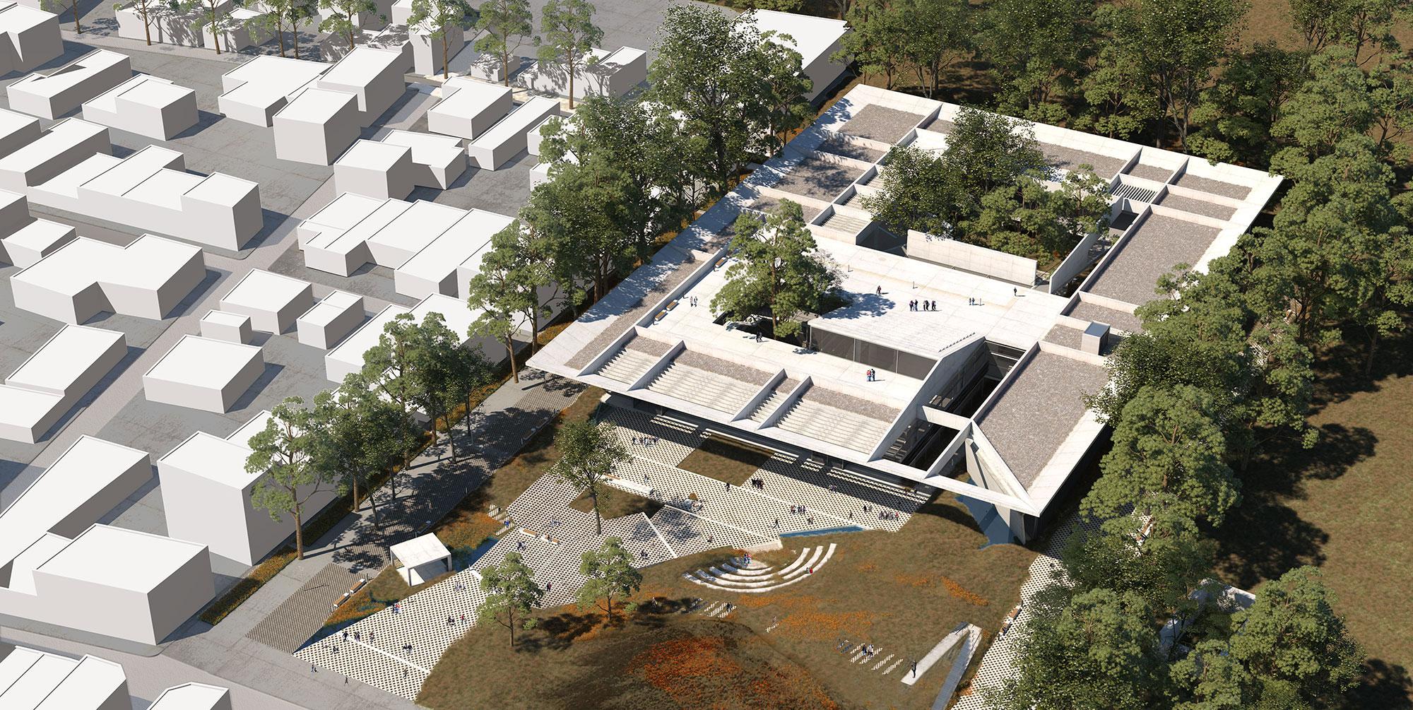 'Ενα στέγαστρο - αστικός κήπος: Κτίριο υπηρεσιών της ΠΕΔΑ στην Ελευσίνα