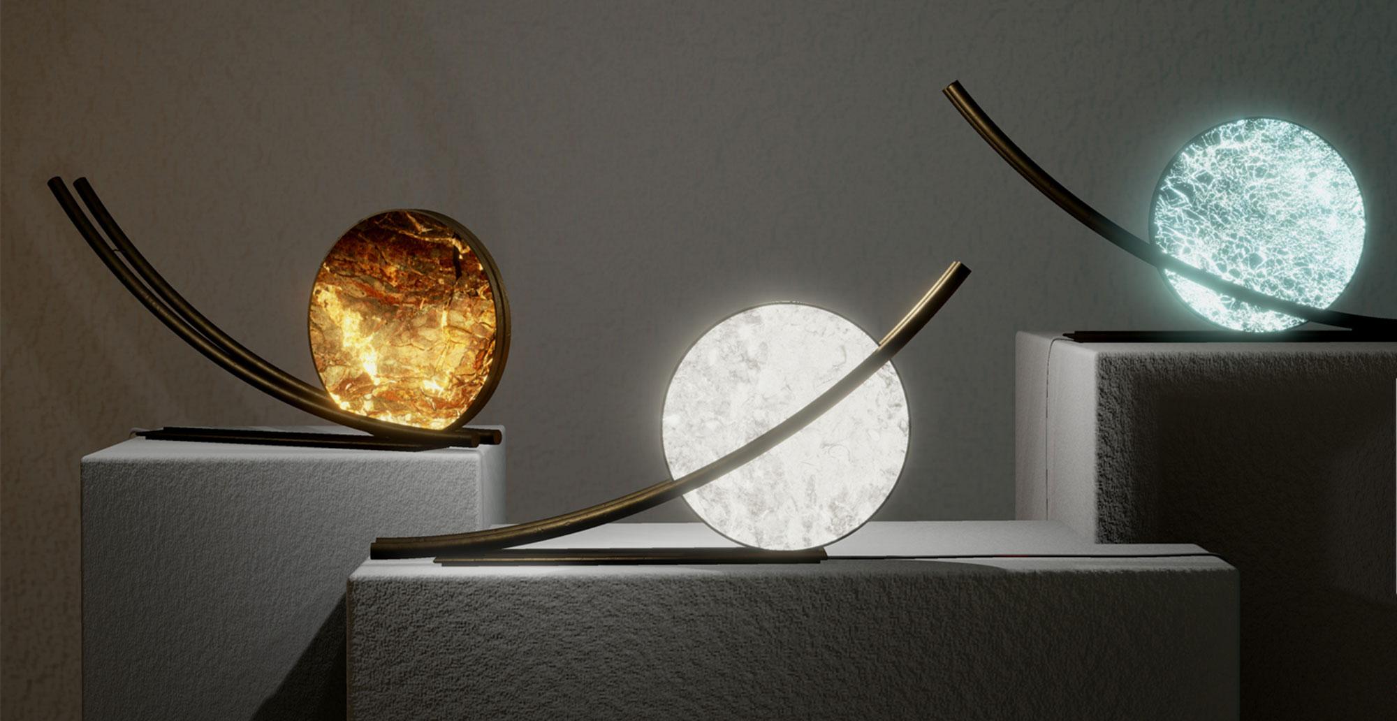 Reverse pickup table lamp